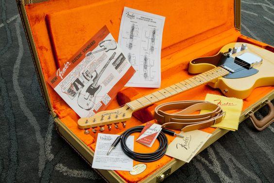 FENDER Telecaster american vintage 52 butterscotch blonde + etui - Guitares électriques - Telecaster | Woodbrass.com