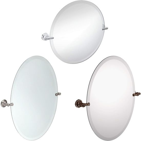 Moen Frameless Pivoting Tilting Mirrors Contemporary Mirrors