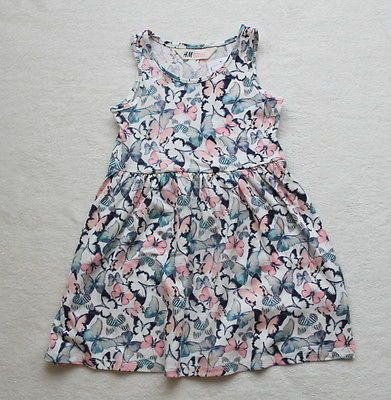***bnwt h&m girl butterflies cotton #dress #4-5-6 #years***,  View more on the LINK: http://www.zeppy.io/product/gb/2/162109162701/