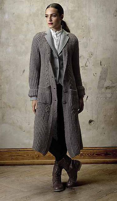 Ravelry: Coat pattern by Lana Grossa. Inspiration: The design and the yarn