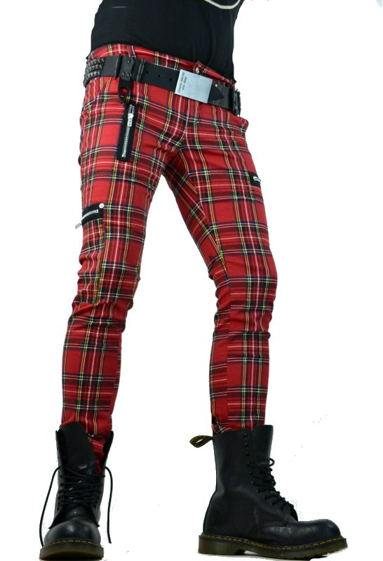 plaid punk pants - Pi Pants