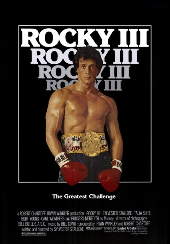 Rocky 3 Movie Poster 27 X 40 En 2021 Rocky Peliculas Portadas De Peliculas Peliculas Cine
