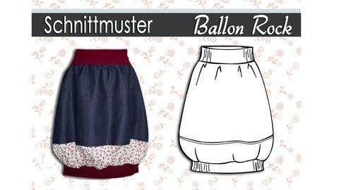 """Schnittmuster und Nähanleitung """"Ballonrock"""" Gr.:34-44 bei Makerist"""