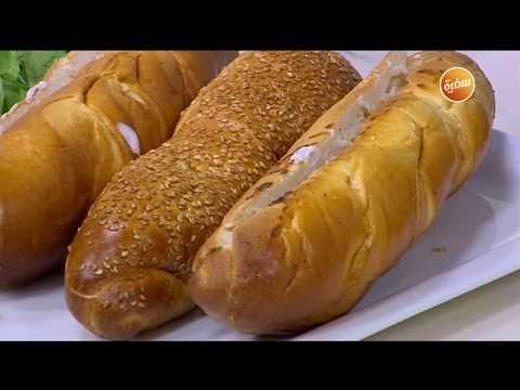 طريقة تحضير سندوتش جمبري مشوي مع الجرجير أميرة شنب Youtube Hot Dog Buns Food Lunch Box