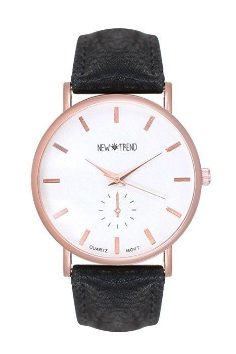 Trend Uhr Designer Roségold Damenuhr Chronograph Optik Farbe: Schwarz Rose Rosegold Gold Armbanduhr Rosengold Rotgold Kupfer Bloggeruhr Trenduhr