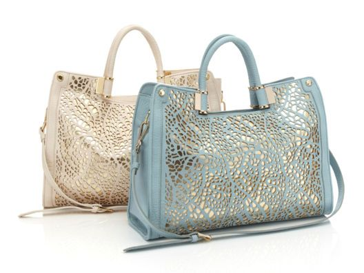 Ivanka Trump Rose Top Handle Lasercut Shopper