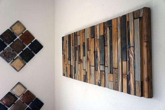 Arte de pared de madera moderna por RusticWarmthDecor en Etsy