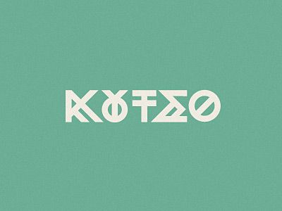 Experimental lettering for a poster about hopscotch. It says hopscotch in greek and it's pronounced κουτσό (koutso). I used an obsolete ligature between the omikron and the ypsilon. Still WIP. by sebdesign.eu #type #greek