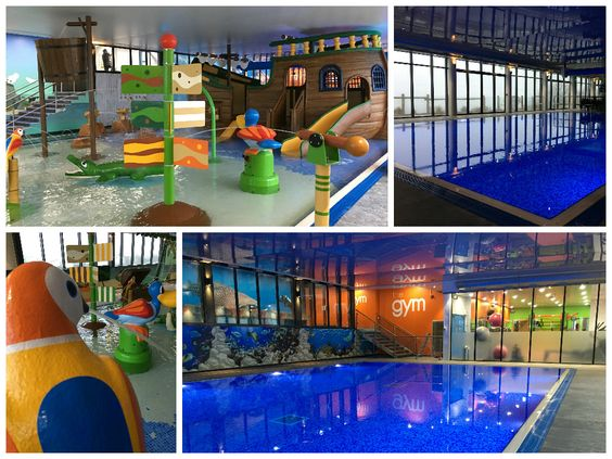 Bays swimming and kid on pinterest - Cool indoor pools with slides ...