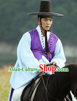 Lee Jun Ki Arang and the Magistrate Korean Hanbok Dresses and Hat Complete Set for Men