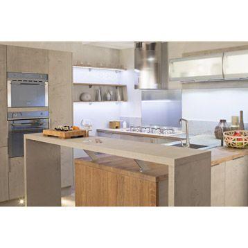 meuble de cuisine delinia composition type loft gris effet bton leroy merlin - Leroy Merlin Cuisine Moderne Gris Fance