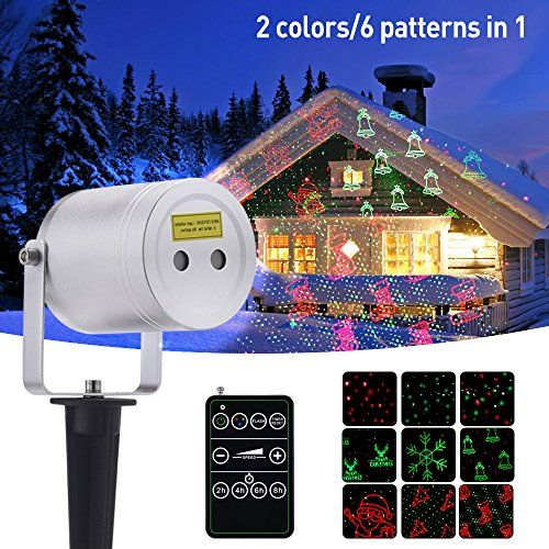 Laser Christmas Light Ominilight Aluminum Alloy Star Projector Shower With 6 In 1 Pattern Remote Contol Christmas Lights Laser Christmas Lights Star Projector