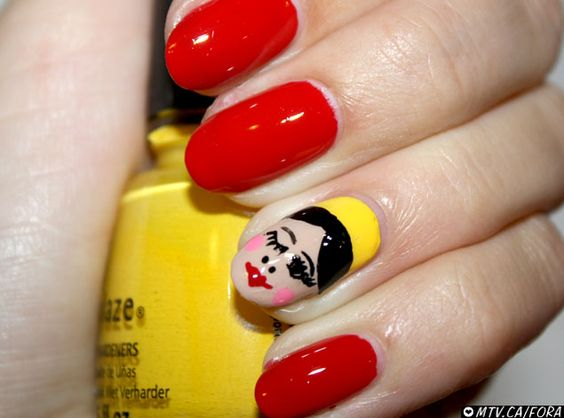 Matryoshka nails <3