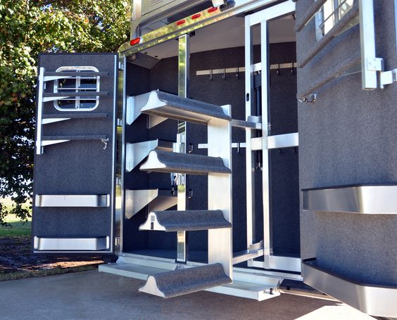 What Do You Need In Your New 4 Star Rear Tack 800 848 3095 Horse Trailer Living Quarters Horse Trailers Horse Trailer Organization