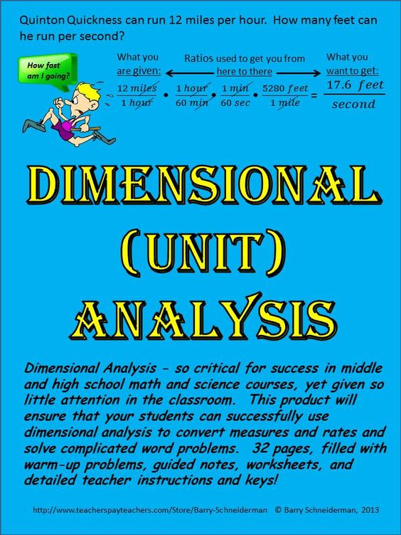 Dimensional Analysis Unit Analysis High Schools The Ojays And Math