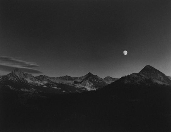 Ansel Adams- Moonrise Glacer Point, Yosemite National Price, 1948