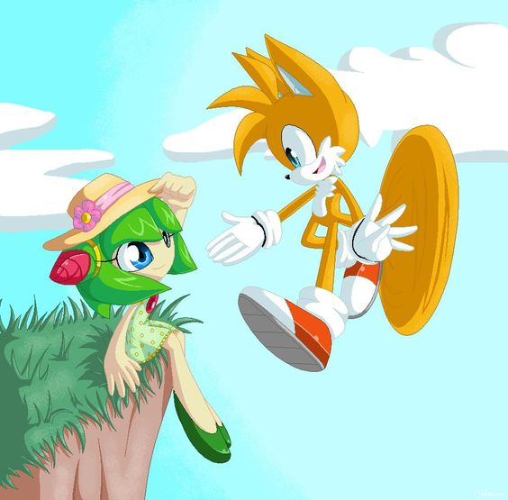 Tails and cosmo by tataina8 on deviantart