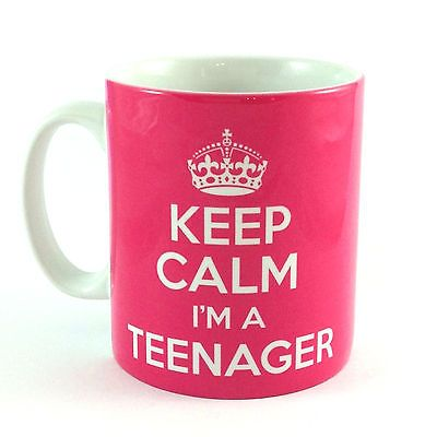 NEW KEEP CALM I'M A TEENAGER GIFT MUG CUP PRESENT 13TH BIRTHDAY IDEA TEEN: