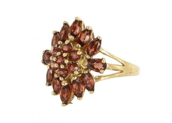 18 Non-Traditional Garnet Engagement Rings That Are Gorgeous via Brit + Co