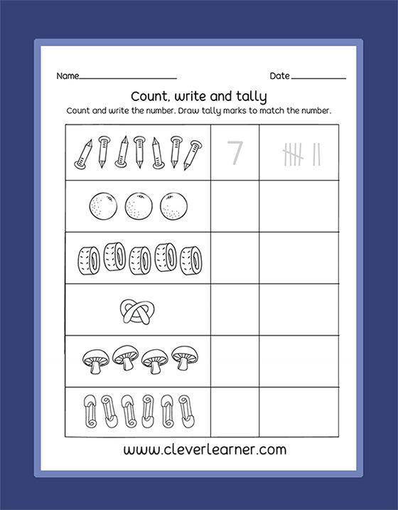 Free Preschool Tallying Activity Sheets. #preschool #kindergarten…  Classroom Math Activities, Graphing Activity Kindergarten, Number Sense Activities  Kindergarten