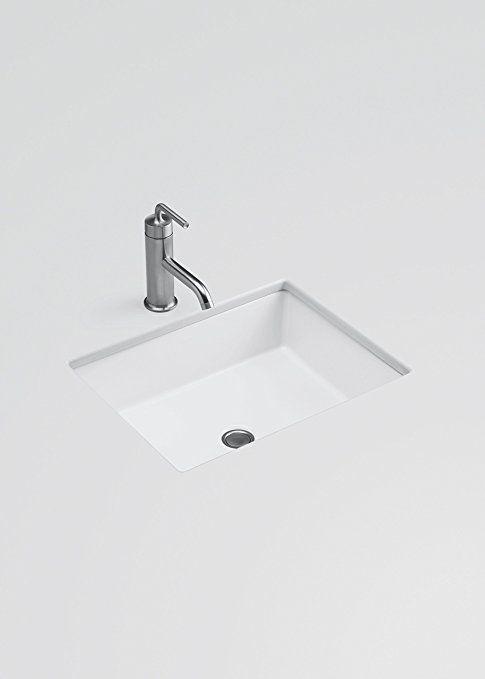Kohler K 2882 0 Verticyl Rectangle Undercounter Bathroom Sink White Single Bowl Sinks Amazon Com Sink Bathroom Sink Single Bowl Sink