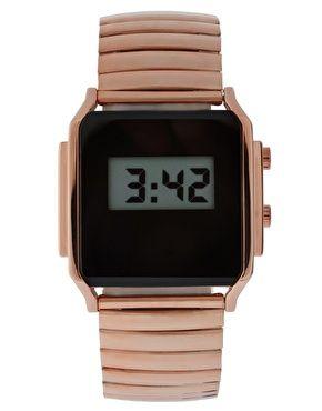 retro: Bracelet Watch, Retro Styles, Asos Watches, Gold Watches, Retro Watches, Digital Watches