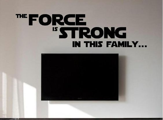 Star was family wall sticker(decal) do you have the force