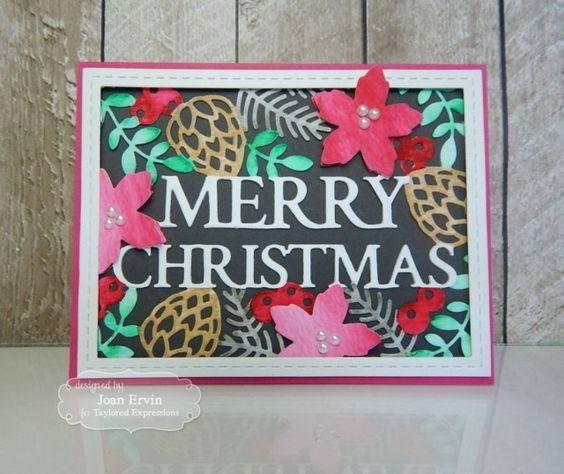 TE958 Taylored Expressions Merry Christmas Cutting Plate | Crafts U Love