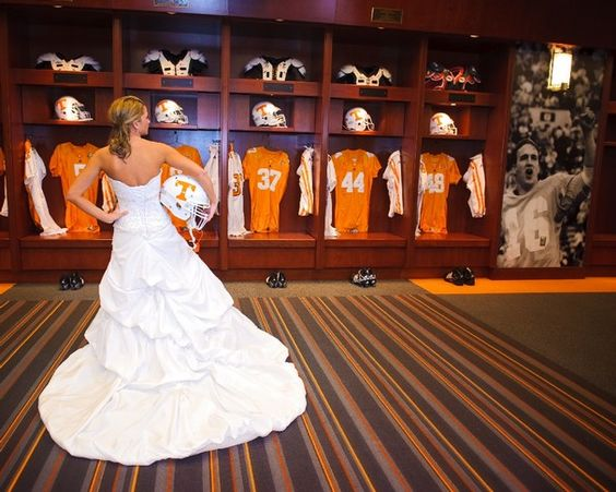 Bridal photoshoot in Neyland Stadium. This is so epic