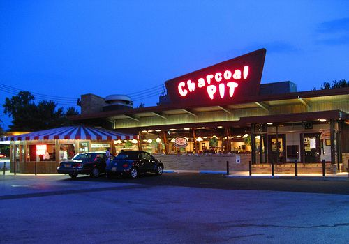 I love the hot dogs and shakes at this roadside icon - The Charcoal Pit, Wilmington DE Route 202. RetroRoadmap.com