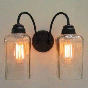 Jack Daniels bottles into globes for lighting!!