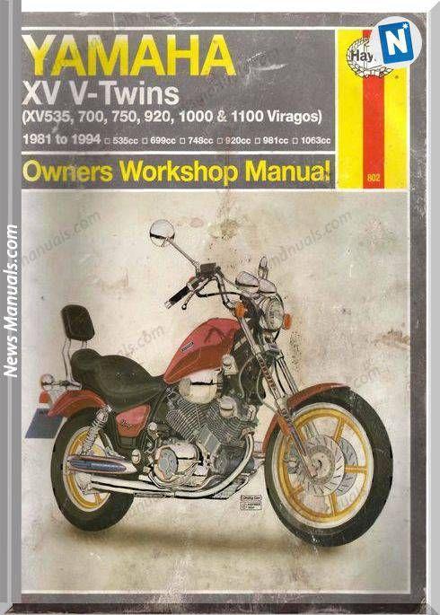 Yamaha Virago Xv535 1100 1981 1994 Service Manual Yamaha Virago Yamaha Manual