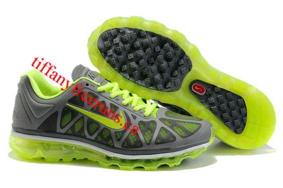 Mens Nike Air Max 2011 Charcoal Pine Green Sneakers
