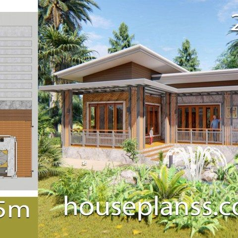 House Plans 7 5x11 With 2 Bedrooms Full Plans House Plans 3d Small House Design Plans House Plans Home Design Plans