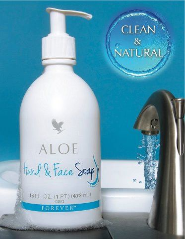 A pH balanced aloe vera based soap: Forever aloe liquid soap. You will find this everywhere in my house!