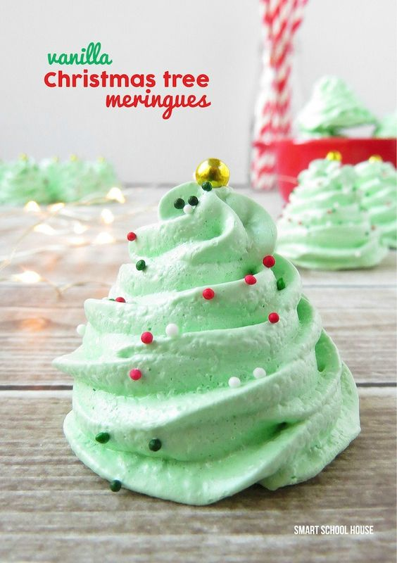Create these delicious christmas meringue cookies with for Easy delicious christmas dessert recipes