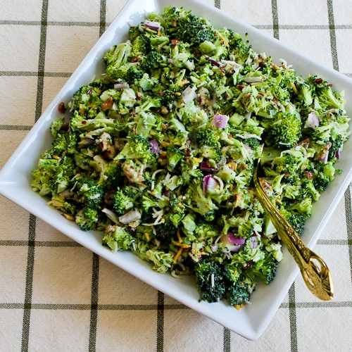 Sweet and Sour Broccoli Salad, from Kalyn's Kitchen.