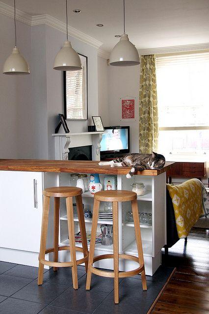 Barra de madera muebles de madera para cocina - Luces para muebles de cocina ...