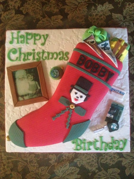 Christmas Stocking Cake.