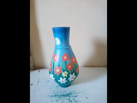 كيفية الرسم علي الفخار خطوة بخطوة للمبتدئين Youtube Decor Home Decor Vase