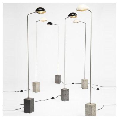 David Weeks Studio - Cement Shell floor lamp