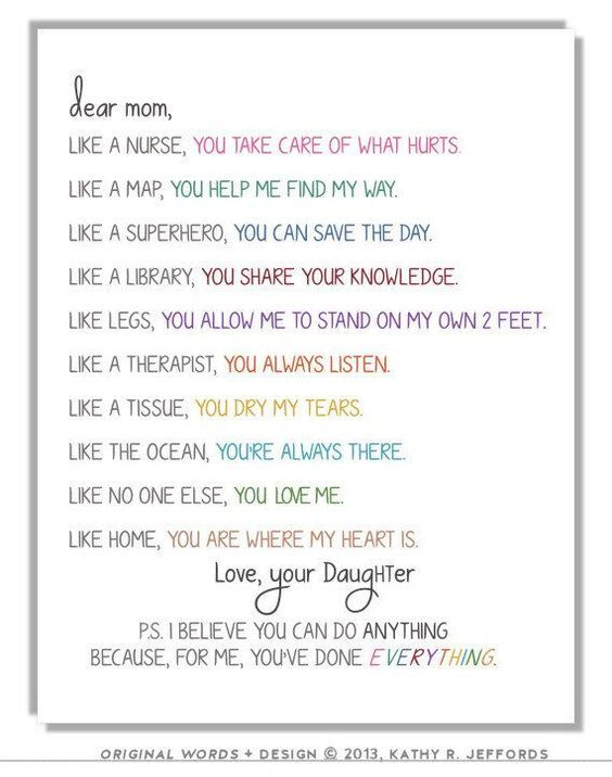 Personalized Gift For Mom From Daughter To Mother Birthday Etsy Birthday Wishes For Mom Mom Birthday Quotes Mom Poems