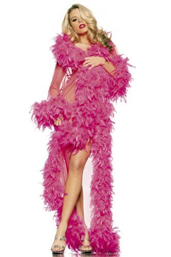 Costume Adventure Women's Hot Pink Exotic Sheer Feather ...