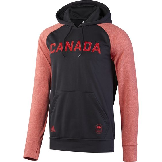adidas Canadian Olympic Ultimate Fleece Contrast Sleeve Pullover Hoody Mens - SportChek.ca