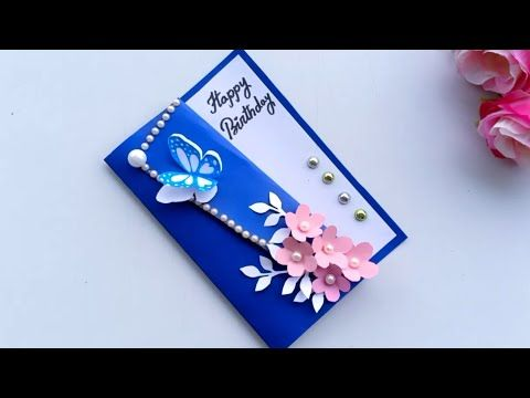 How To Make Birthday Card Handmade Easy Card Tutorial Youtube Valentine Cards Handmade Simple Cards How To Make Greetings