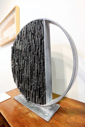 Division, by Tom Stogdon www.tomstogdon.com. Made from slate and steel.: