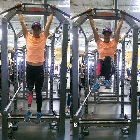 Option B: Hanging Knee Raise