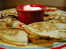 Cooking Tip of the Day: Recipe: Fajita Chicken and Cheese Quesadillas