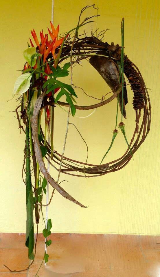 Tropische materialen, mooie combinatie