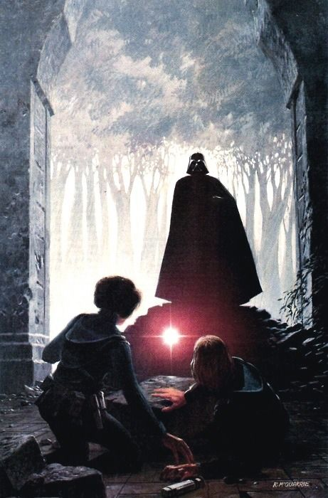 """Splinter of the Mind's Eye"" - Artwork by Ralph McQuarrie (1977)... This book stated Luke and Leia were brother and sister. It was a good book. I think I still have it somewhere."